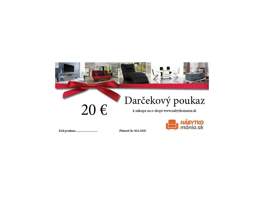 DARČEKOVÁ POUKÁZKA 20€