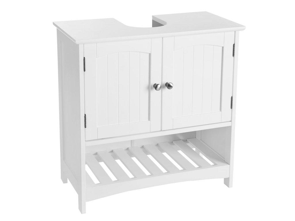 Dřevěná skříňka pod umyvadlo bílá 60x60x301