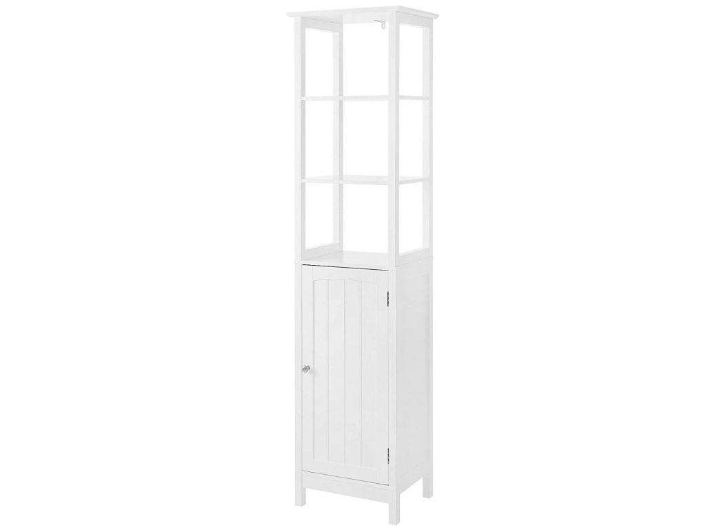 Koupelnová skříňka vysoká bílá1