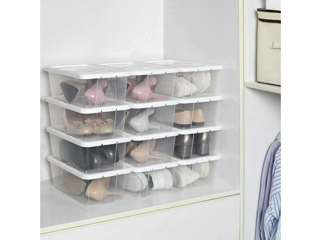 Úložný box na topánky priehľadný