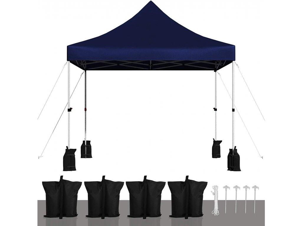 Zahradní párty stan skládací 300x300 cm modrý