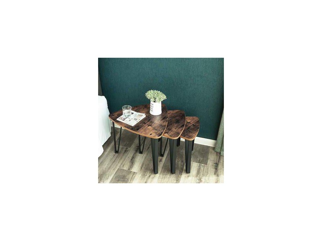 Sada konferenčných stolíkov 3 ks