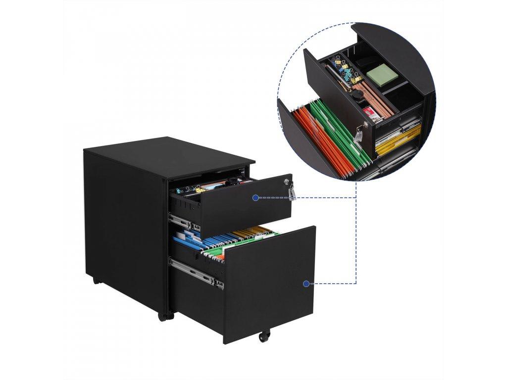 Pojazdný zásuvkový kontajner čierny