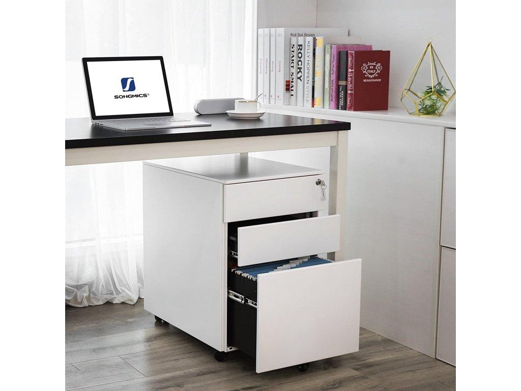 Zásuvkový kontajner 3 zásuvky biely