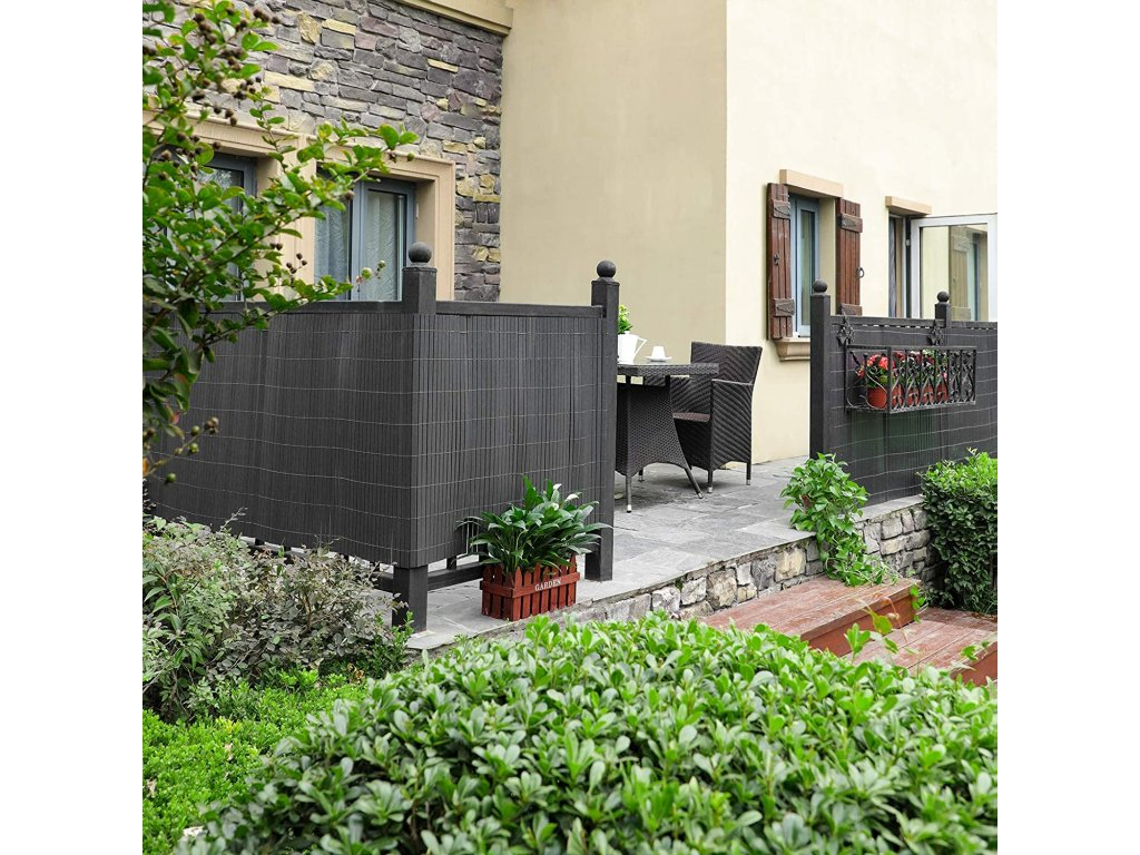 Balkónová tieniacej rohož sivá 90x300 cm