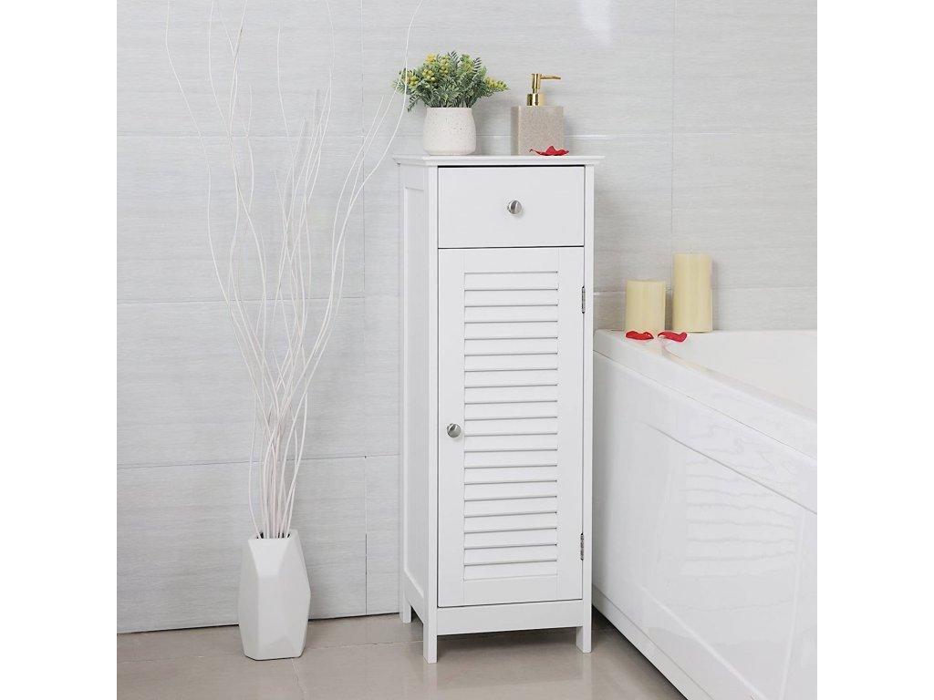 kúpeľňová skrinka biela 32x87 cm