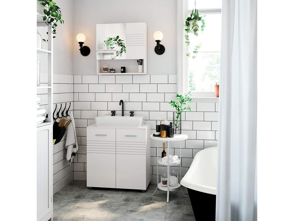 kúpeľňová skrinka 60x63 cm biela