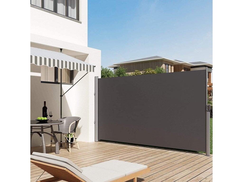 markíza na balkón terasu 200x300 cm sivá