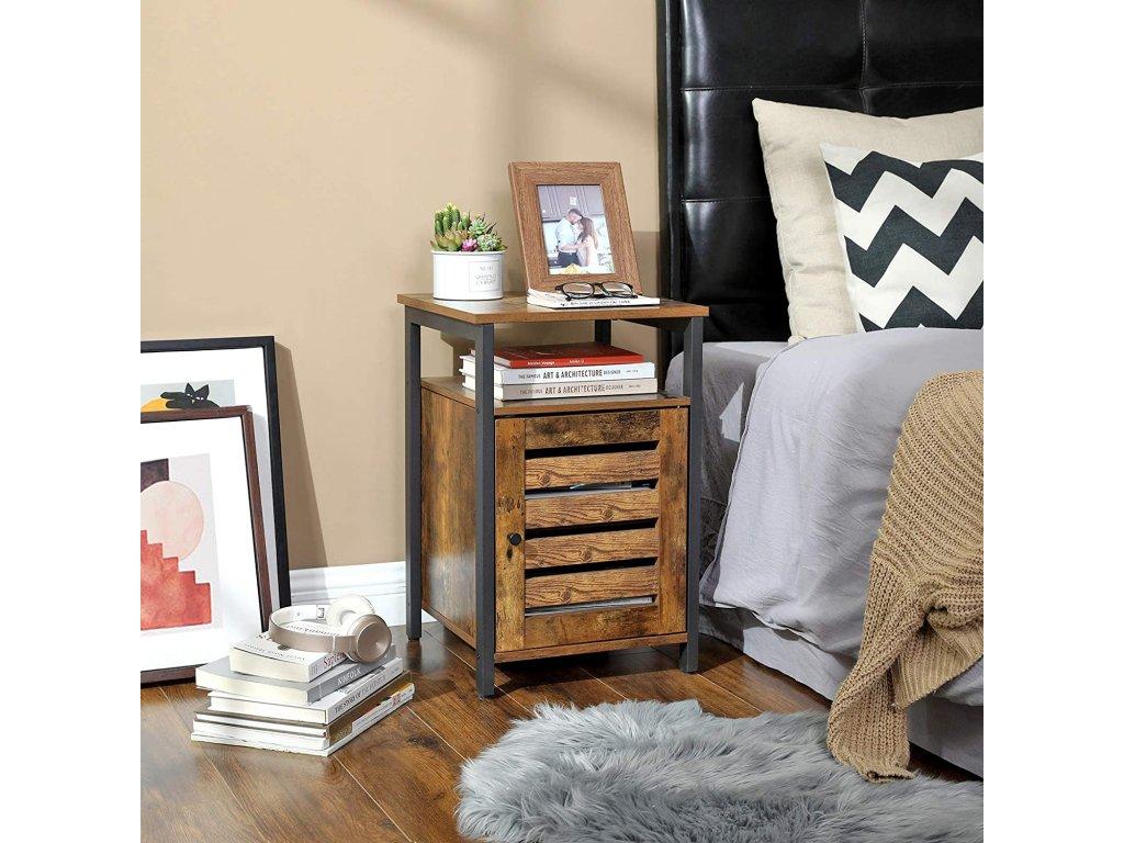 nočné stolček hnedý