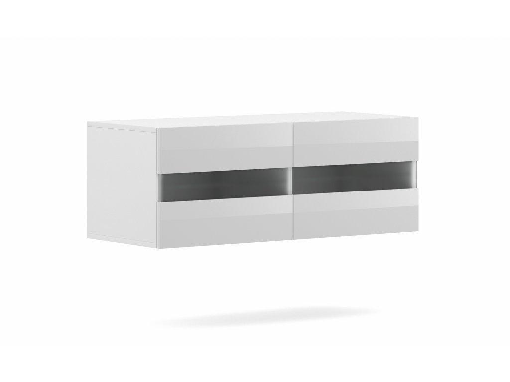 TV stolík RITA biely 100 cm