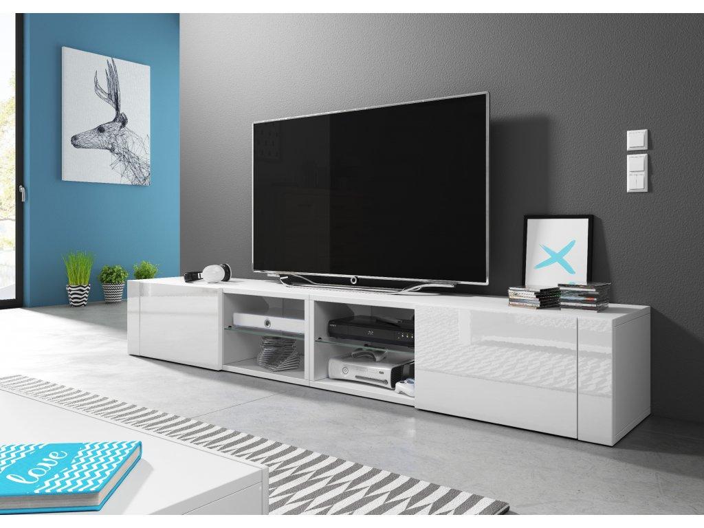 TV stolík BEST DOUBLE, biely