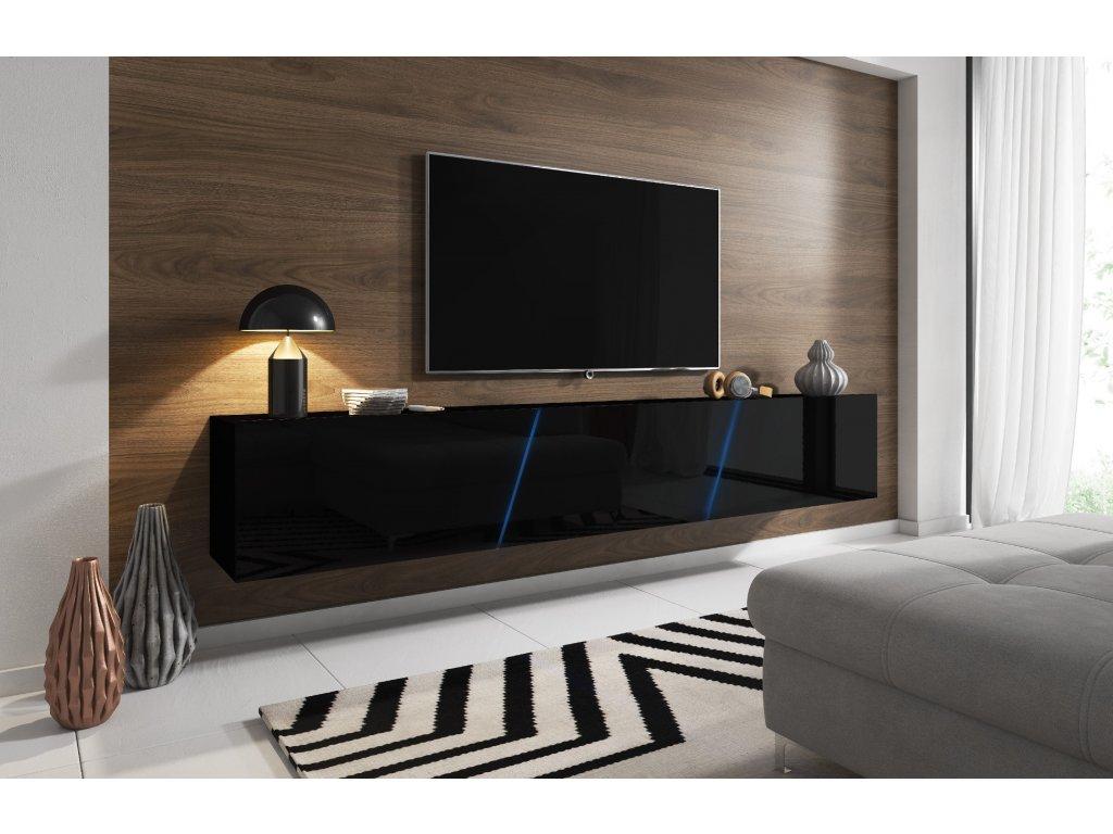 TV stolík Slant 240 čierny