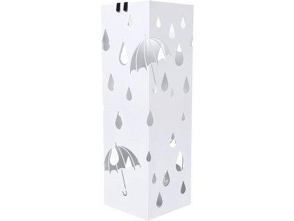 Stojan na deštníky SONGMICS čtvercový, bílý, LUC49W