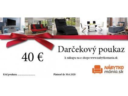 DARČEKOVÁ POUKÁZKA 40€
