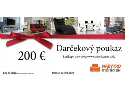 DARČEKOVÁ POUKÁZKA 200€