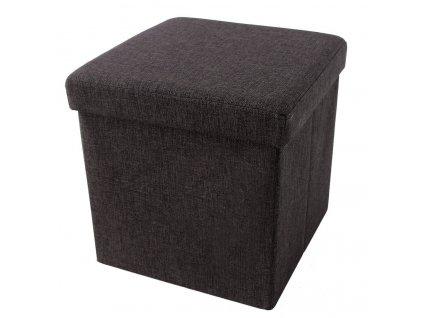 Box na hračky čalouněný skládací 38 cm hnědý