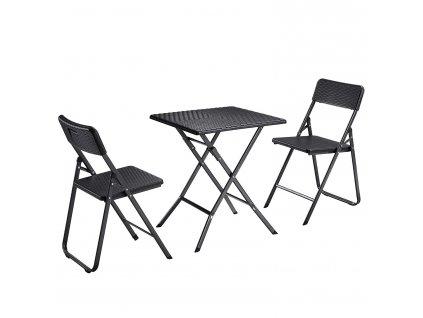 Zahradní stolek skládací šedý