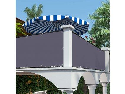 Balkonová zástěna šedá 90x600 cm