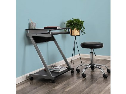 Kovový pojazdný stolík na PC