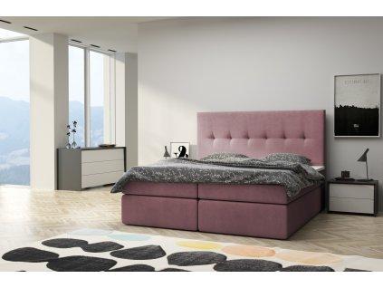 Moderní čalounění postel boxsprings