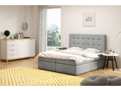 Čalouněná postel boxsprings