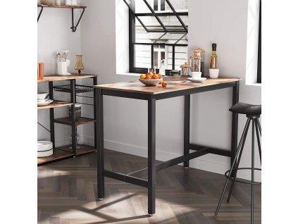 industriálnej barový stôl 60x120 cm hnedý