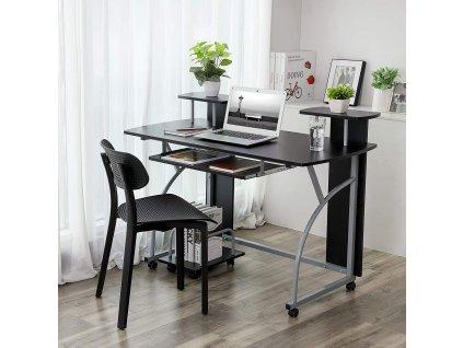 kovový pracovný opc stôl čierny kovový mobilné