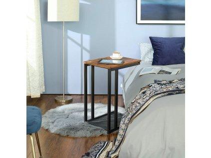 Stolík pre raňajky do postele kovový