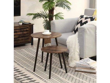Odkladacia stolík hnedý