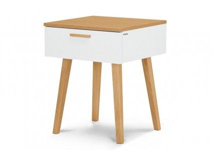 noční stolek vysoký bílý