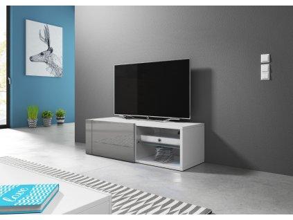 TV stolík BEST, biely/sivý