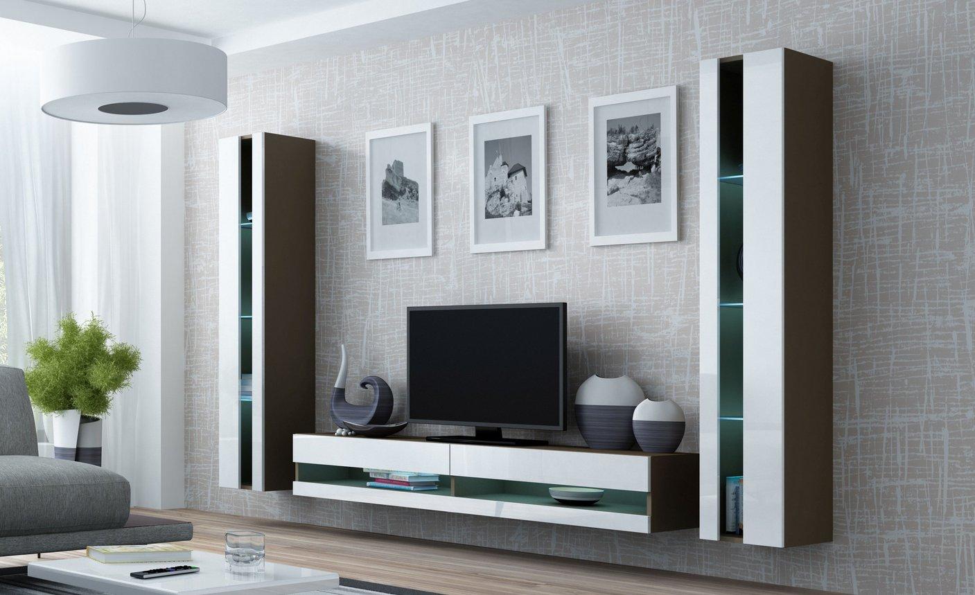 CAMA MEBLE Obývacia stena VIGO NEW 3 Farba: latte/biela