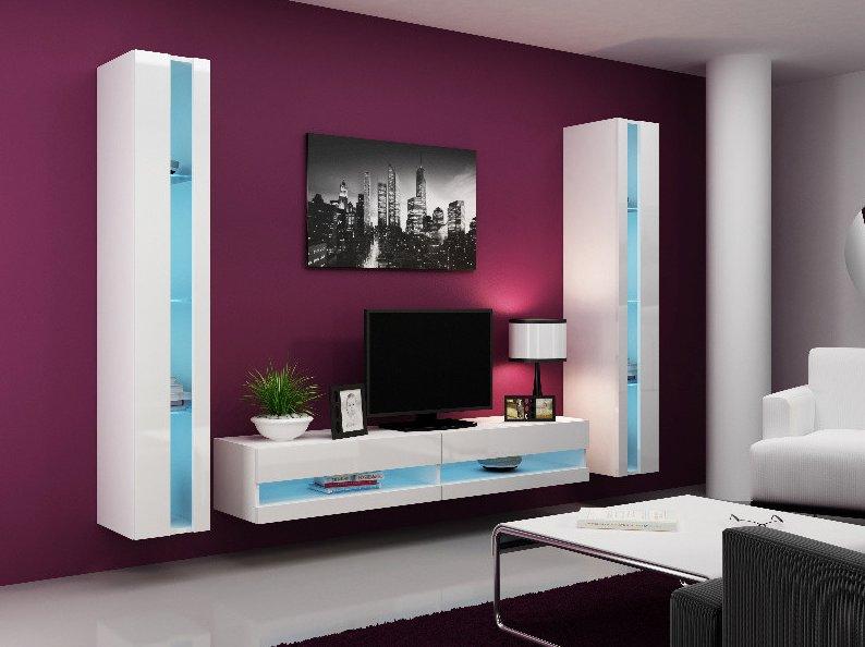 CAMA MEBLE Obývacia stena VIGO NEW 3 Farba: biela