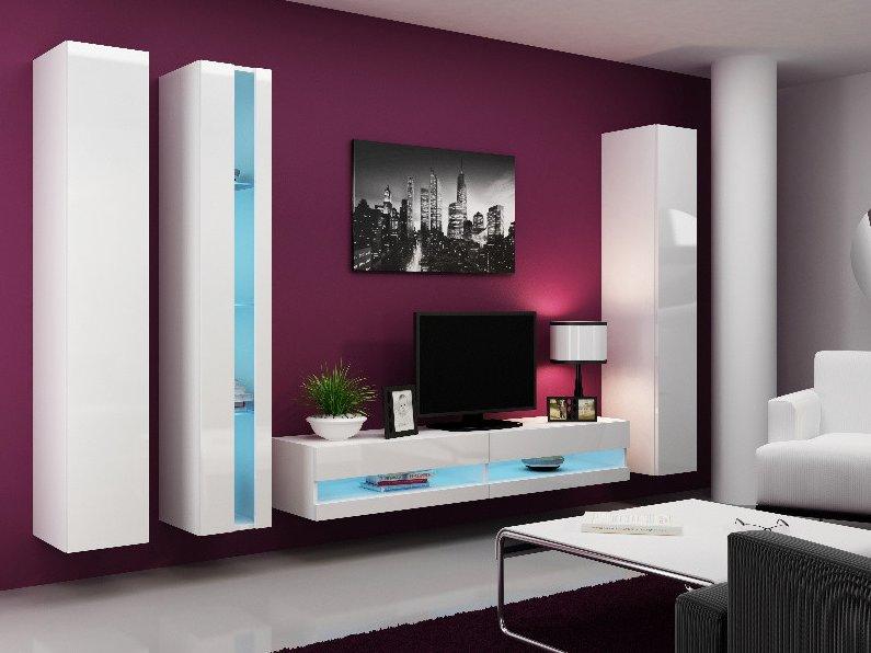 CAMA MEBLE Obývacia stena VIGO NEW 7 Farba: biela
