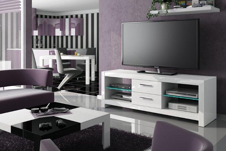 HUBERTUS Televízny stolík ANDORA Farba: biela