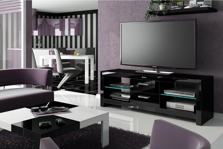 HUBERTUS Televízny stolík ANDORA Farba: čierna
