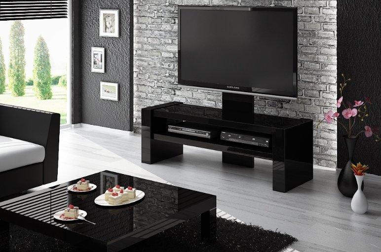HUBERTUS Televízny stolík DAVOS Farba: čierna