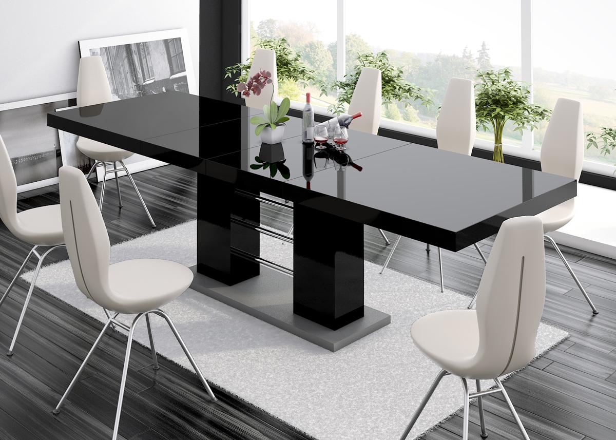 HUBERTUS Jedálenský stôl LINOSA 2 Farba: čierna