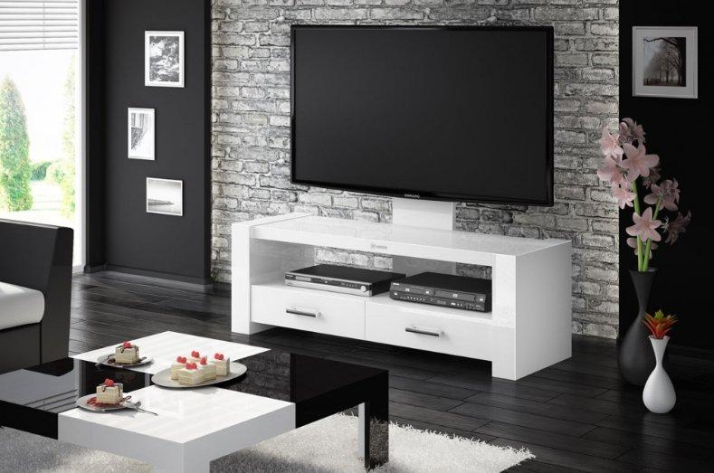 HUBERTUS Televízny stolík MONACO Farba: biela