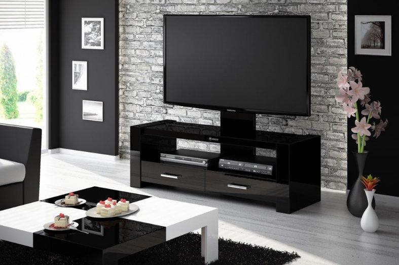 HUBERTUS Televízny stolík MONACO Farba: čierna