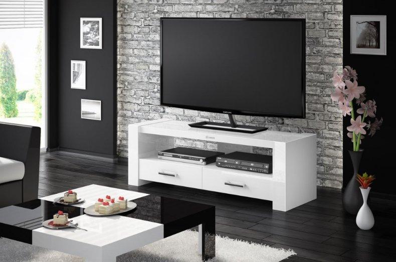 HUBERTUS Televízny stolík MONACO 2 Farba: biela