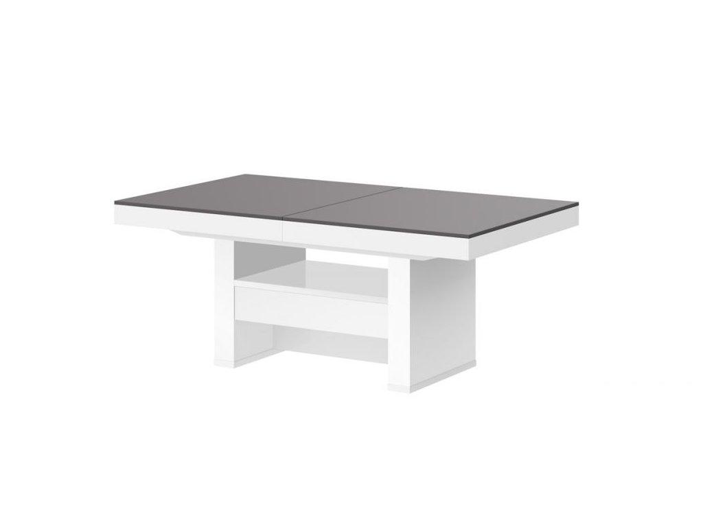 HUBERTUS Konferenčný stolík AVERSA LUX MAT Farba: sivá