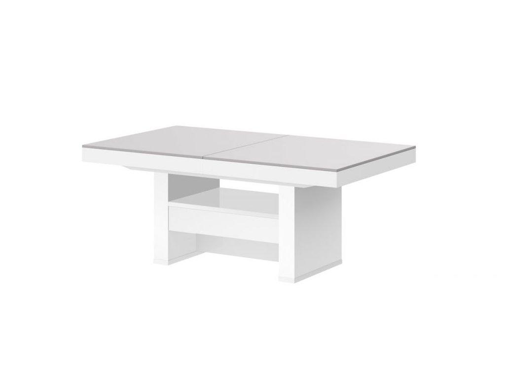 HUBERTUS Konferenčný stolík AVERSA LUX MAT Farba: svetlá sivá