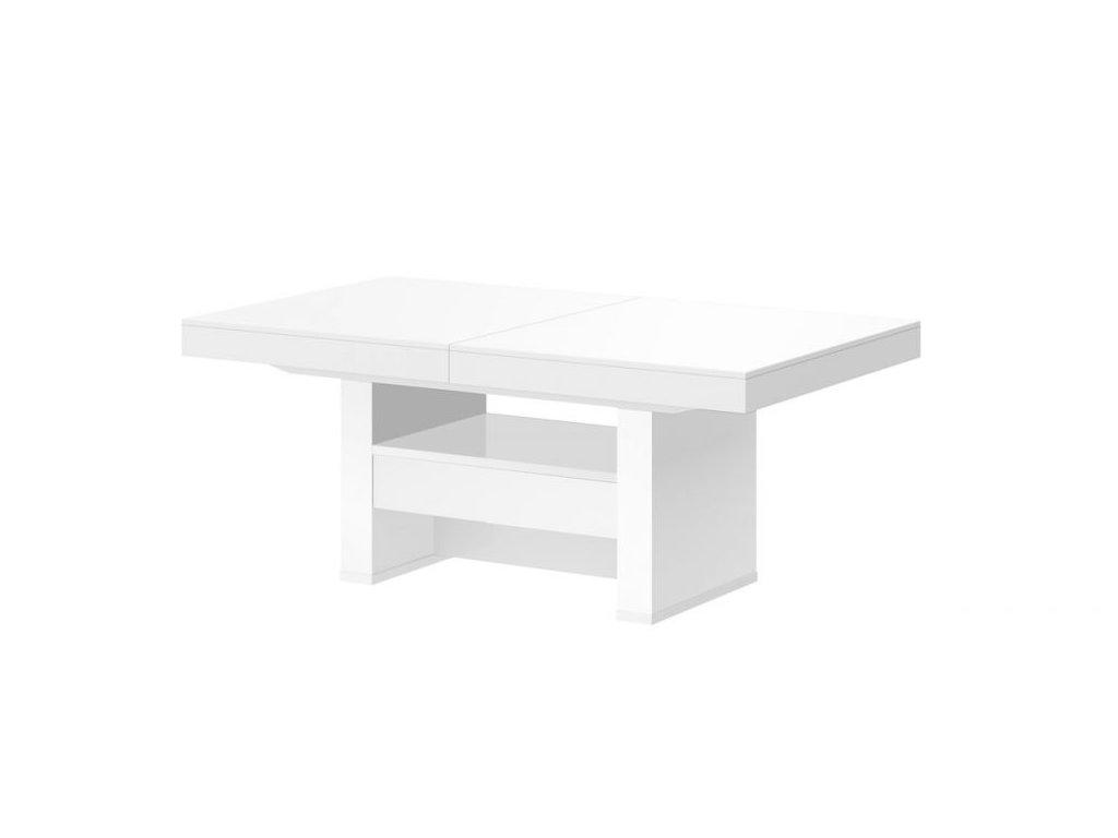 HUBERTUS Konferenčný stolík AVERSA LUX MAT Farba: biela