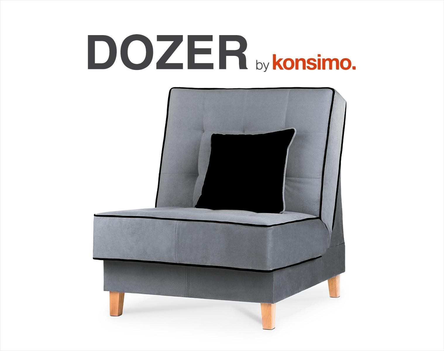 KONSIMO Kreslo DOZER šedé
