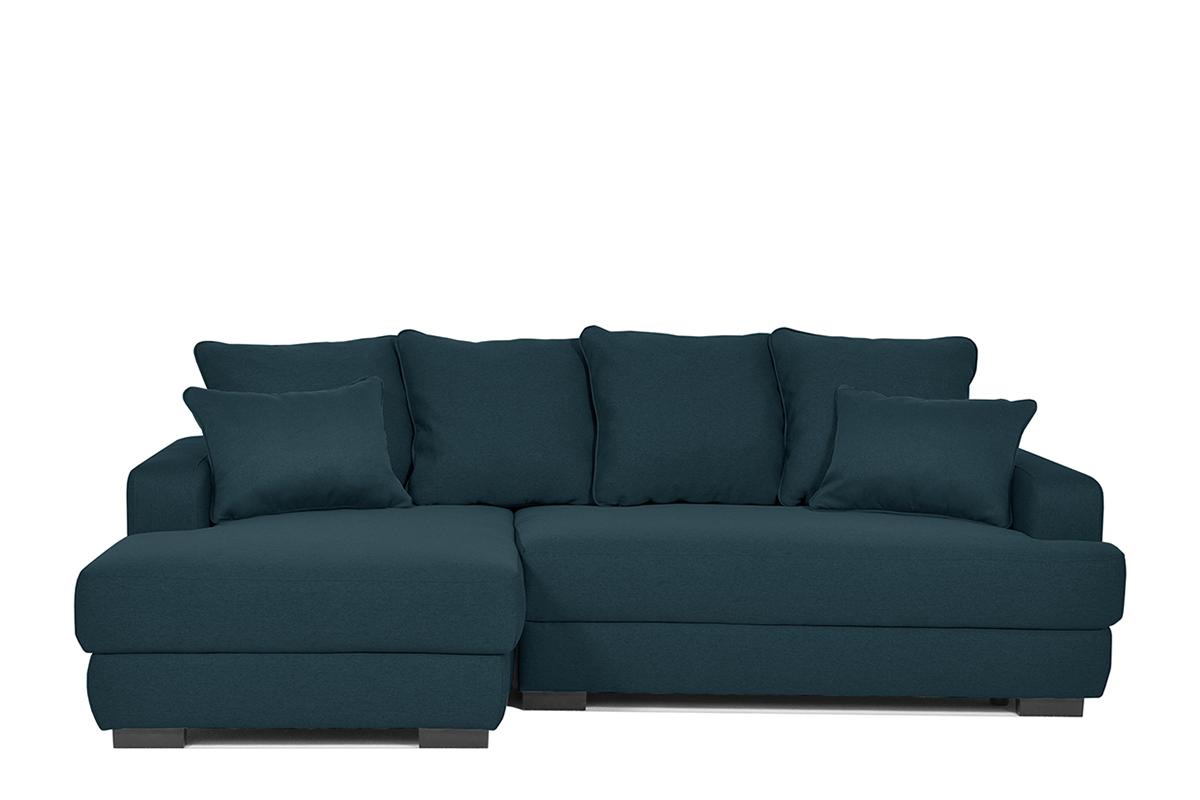 KONSIMO Rohová sedacia súprava TUBERO tmavo modrá, ľavé prevedenie