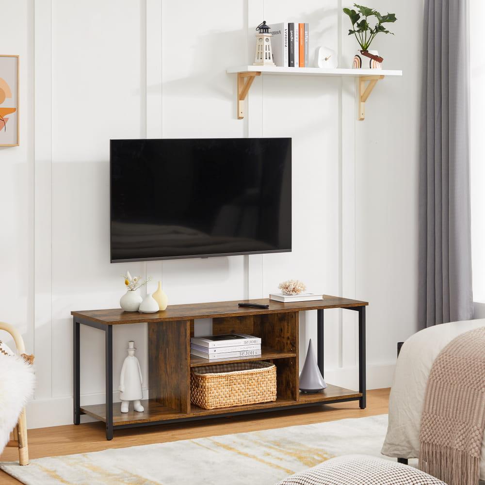 VASAGLE TV stolík rustikálny 135 x 50 x 40 cm