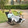 Záhradné relaxačné ležadlo čierne kovové