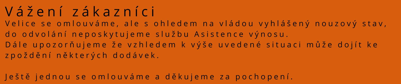 upozornění na omezení asistence výnosu