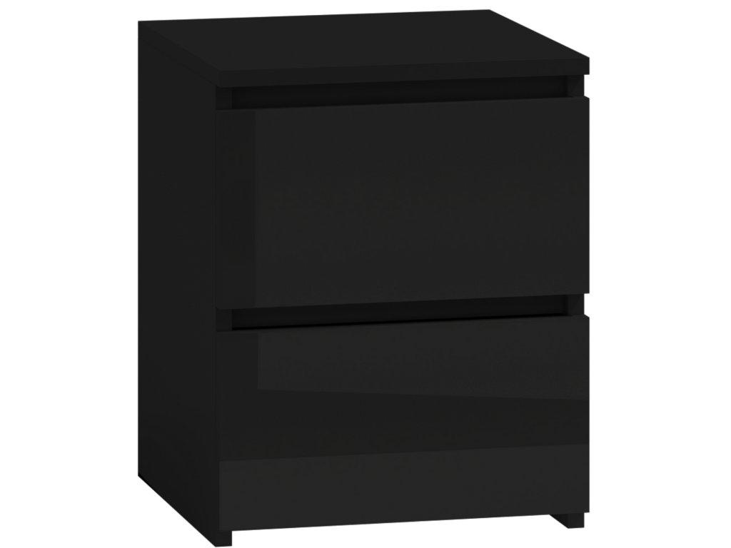 Noční stolek PUNA P2, černá
